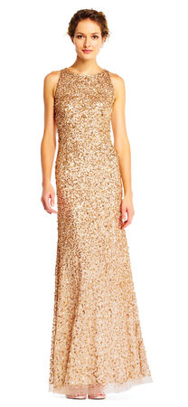 Sequin Beaded Halter Dress