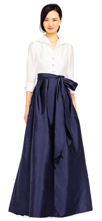 Taffeta Blouse with Ball Skirt