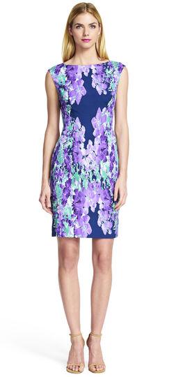 Multicolored Floral Printed Sheath Dress