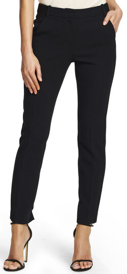 Fitted Skinny Pants with Elastic Detail
