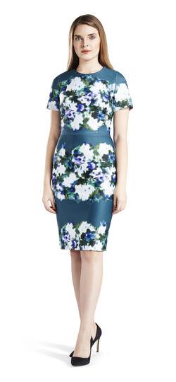 Printed Scuba Sheath Dress
