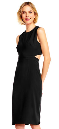Sleeveless Sheath Dress with Cutout Back