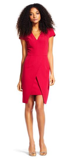 Short Sleeve Sheath Dress with Tulip Skirt
