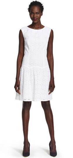 Drop-waist Scalloped Flounce Dress