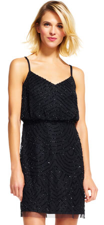Sequin Blouson Dress