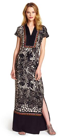 Printed Tropical Maxi Dress