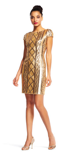 Cable Knit Sequin Cocktail Dress