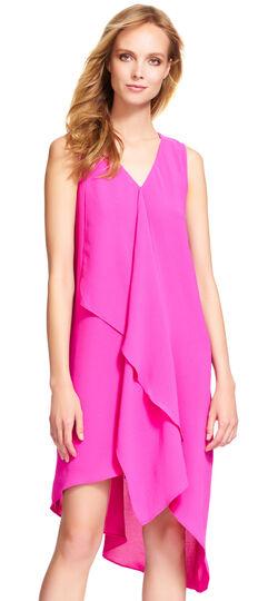 Asymmetrical Ruffle Front Dress