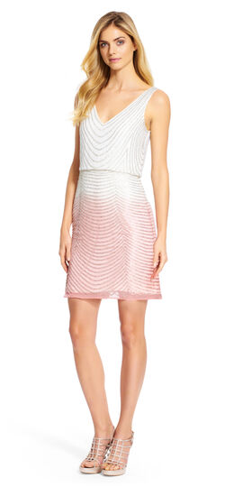 Sleeveless Ombre Cocktail Dress