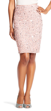 Sequin Beaded Pencil Skirt
