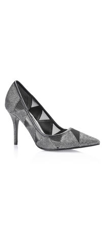 Addison Pointy Toe Pump with Mesh Insets