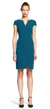 Asymmetrical Envelope Hem Sheath Dress