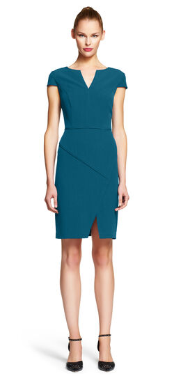 Asymmetrical Envelope Hem Sheath Dress