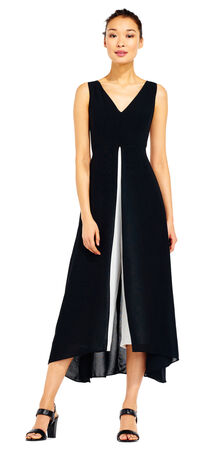 Colorblock Crepe Jumpsuit