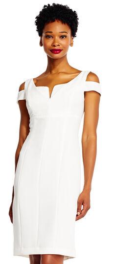 Cut Out Shoulder Sheath Dress
