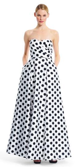 Strapless Polka Dot Gown