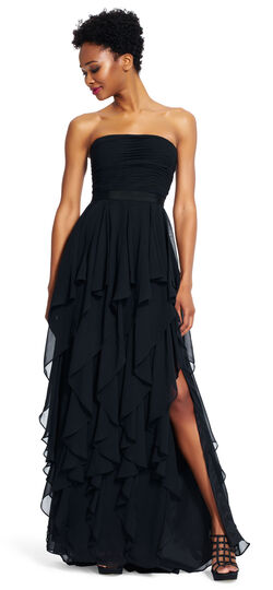 Chiffon Tiered Gown
