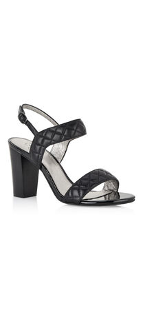Astor Leather Quilted Sandal