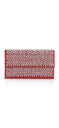 Nellie Glass Beaded Clutch