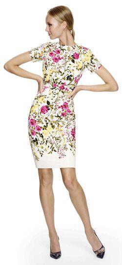 Botanical Printed Sheath Dress