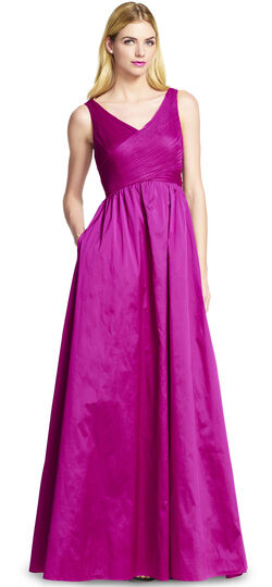 Sleeveless Taffeta and Tulle Gown