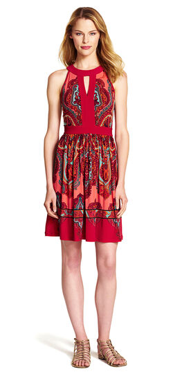 Paisley Fit & Flare Dress