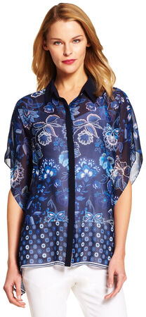 Collared Floral Blouse