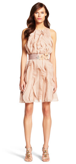 Halter Cocktail Dress with Wrap