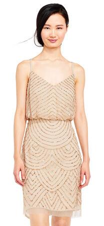 Sequin Blouson Dress