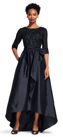 Taffeta Ball Gown with Beaded Bodice
