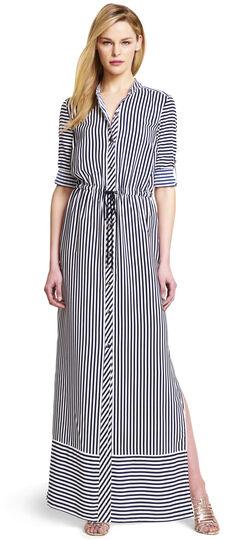 Striped Maxi Shirtdress