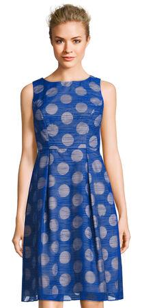 Burnout Polka Dot Fit and Flare Dress