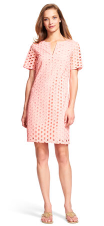 Square Eyelet Shift Dress
