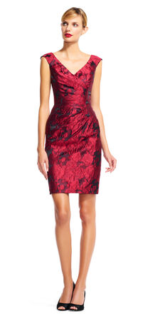 Sleeveless Rose Print Wrap Dress with V-Back