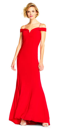 Off the Shoulder Jersey Mermaid Gown