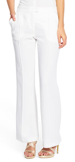 Crepe Pintuck Boot Cut Pant