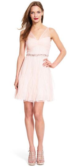 Sleeveless tulle cocktail dress