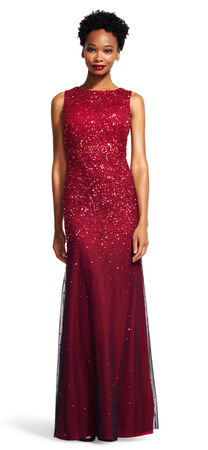 Ombre Sleeveless Sequin Dress