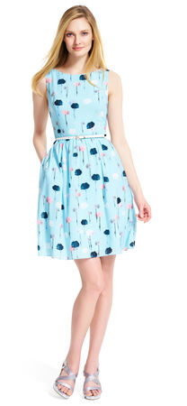 Photofloral Fit and Flare Dress