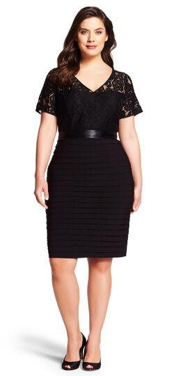 Lace Banded Sheath Dress