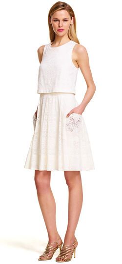 Medallion Lace Popover Dress