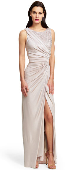Lace Jersey Gown
