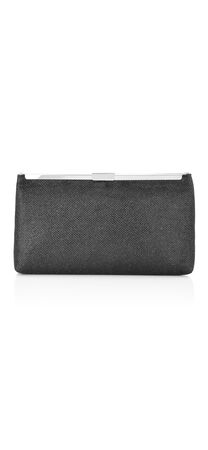 Stefania Metallic Fabric Clutch