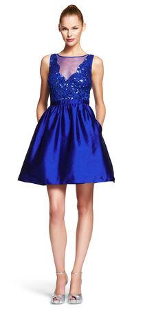 Beaded Taffeta Party Dress