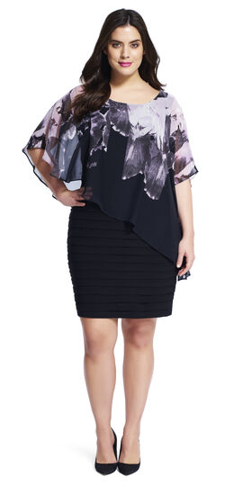 Capelet Banded Jersey Dress