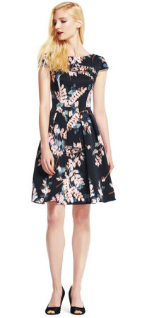 Wildflower Fit and Flare Dress with Cap Sleeves