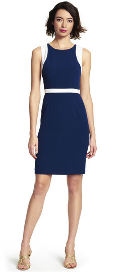 Contrast Back Detailed Sheath Dress