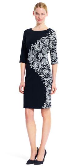 Placement Print Sheath Dress