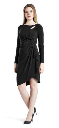 Cutout Jersey Faux Wrap Dress