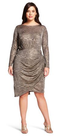 Printed Scoop Neck Dress